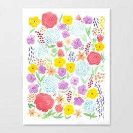 les fleurs Canvas Print