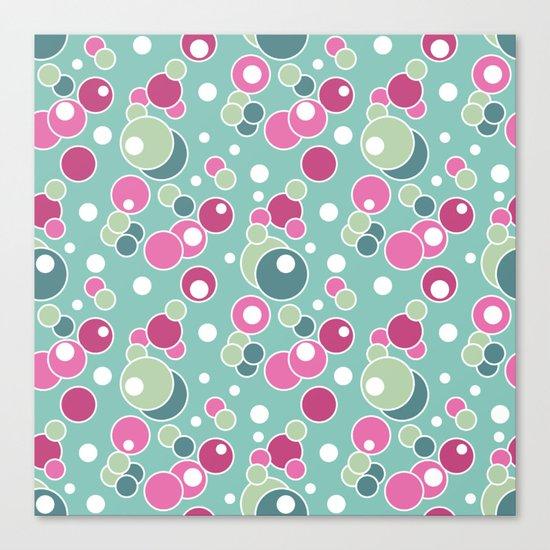 Retro. Multi-colored polka dots . Canvas Print
