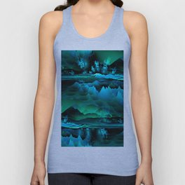 Residual Worlds (green) Unisex Tank Top