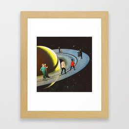Saturn's Rink Framed Art Print