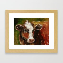 Cow Portrait Framed Art Print