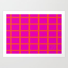 Alium 3 - Delayed Color Contrast Optical Illusion Grid Art Print