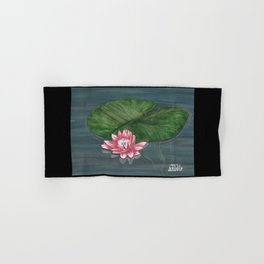 Water Lilies 1 with border Hand & Bath Towel