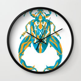 Sagra Beetle _ Psychedelic bug 3.2 _ Besouro Independente Wall Clock