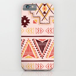 Pink tribal pattern iPhone Case