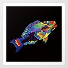 Rainbow parrot fish -2 Art Print