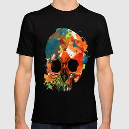 water color skull T-shirt