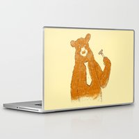 the office Laptop & iPad Skins featuring Office Bear by Tobe Fonseca