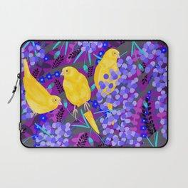 Canaries on Purple Laptop Sleeve