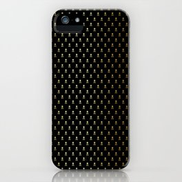 SKULLS PATTERN - BLACK & GOLD - SMALL iPhone Case