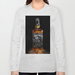 Jack Daniels Whiskey Wall Art, Print, Home Decor, Dorm Decor, Impressionism Long Sleeve T-shirt