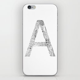 Illustrate/Lettering A iPhone Skin