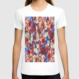 Red White Blue Flora T-shirt