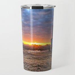 Grain Bin Sunset Travel Mug