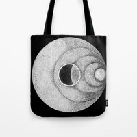 the moon Tote Bags featuring Moon by Rui Ribeiro
