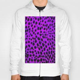 Pink Purp Dalmatian Print Hoody