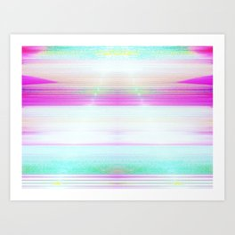 Candy Skyline Art Print