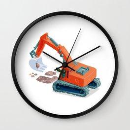 Croco Digger Wall Clock