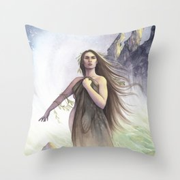 My Skin, portrait of a Selkie Throw Pillow