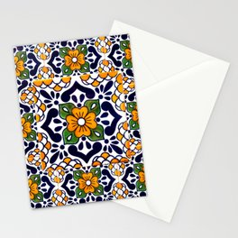 talavera mexican tile_4 Stationery Cards