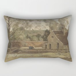 Jean-Baptiste-Camille Corot - Château Thierry Rectangular Pillow