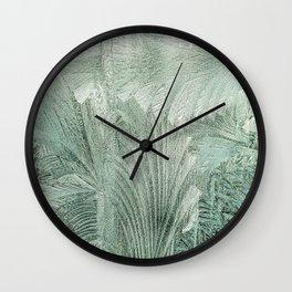 Blurry leaves Wall Clock