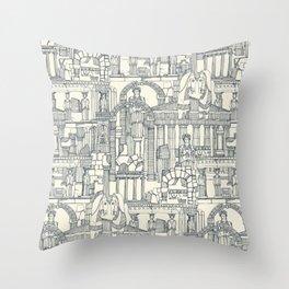 Ancient Greece indigo pearl Throw Pillow