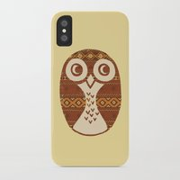 navajo iPhone & iPod Cases featuring Navajo Owl  by Terry Fan