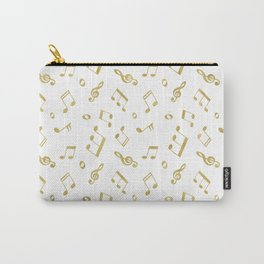 Gold Music Notes Carry-All Pouch