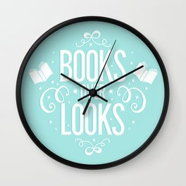 Books over looks Wall Clock