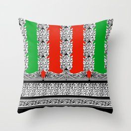 Holiday Stripe Frett Throw Pillow