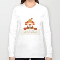 clown Long Sleeve T-shirts featuring Clown by Design4u Studio