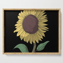 Sunflower laughs Serving Tray
