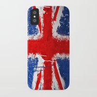 british iPhone & iPod Cases featuring BRITISH FLAG by Sophie