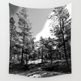 Black-white forest nature Wall Tapestry