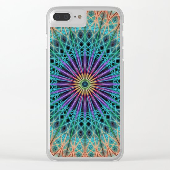 Round fantasy structure Clear iPhone Case