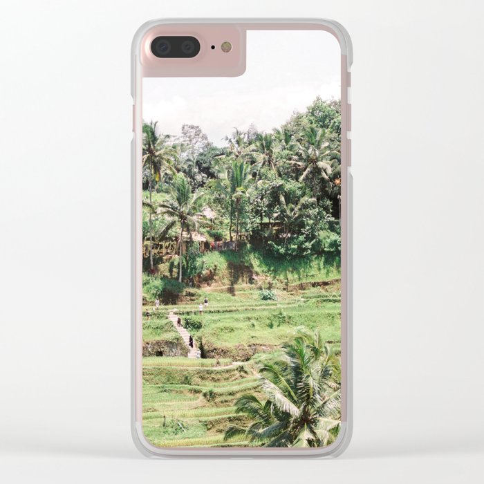 Tegalalang Rice fields near Ubud Bali, Indonesia | Travel film photography wall art Clear iPhone Case