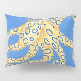 Blue Ring Octopus Pillow Sham