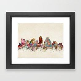 austin texas skyline Framed Art Print