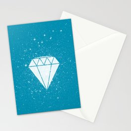 Space Diamond (blue) Stationery Cards