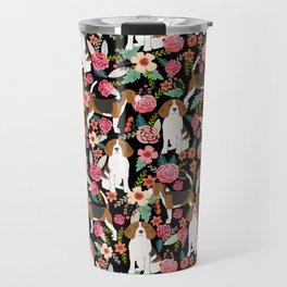 Beagle Floral design beagle florals dog design cute dogs Travel Mug