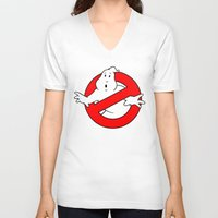 ghostbusters V-neck T-shirts featuring ghostbusters by tshirtsz