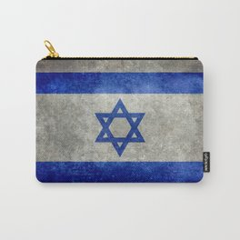Israeli National Flag in grungy retro style שְׂרָאֵל‎ Carry-All Pouch