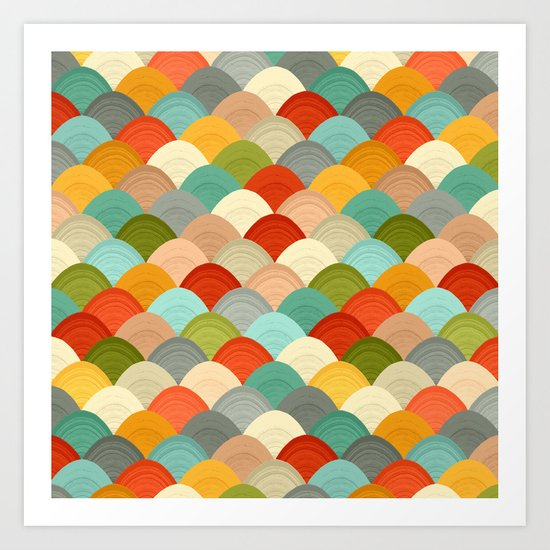 yarn hill dollops Art Print
