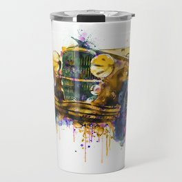 Oldtimer Automobile Watercolor Painting Travel Mug