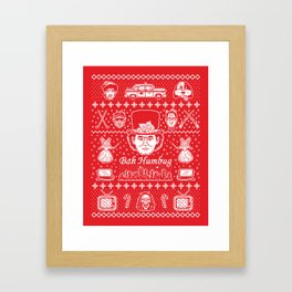 Merry Scroogedmas Framed Art Print