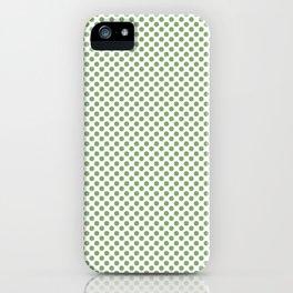 Green Tea Polka Dots iPhone Case