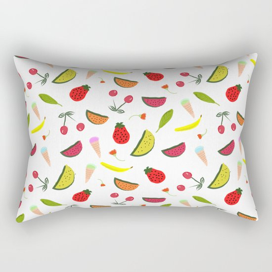 Vegan Goodies Pattern Rectangular Pillow