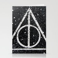 deathly hallows Stationery Cards featuring Deathly Hallows by Herk Designs