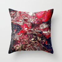 carnage Throw Pillows featuring Carnage by Jeni Decker